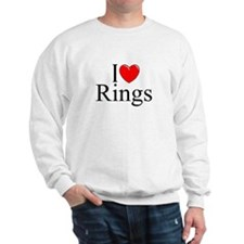 """I Love (Heart) Rings"" Sweatshirt"