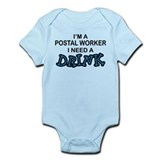 Postal Worker Need a Drink Onesie