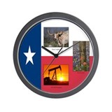 Texas Themed Wall Clock