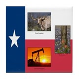 Texas Themed Tile Coaster