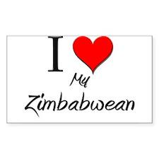 I Love My Zimbabwean Rectangle Decal