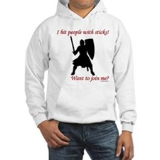 Hit with Sticks Hooded Sweatshirt