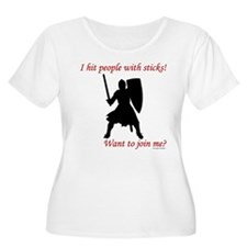 Hit with Sticks Women's Plus Size Scoop Neck T-Shi