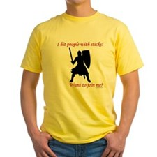 Hit with Sticks Yellow T-Shirt