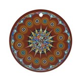 Trippy Flower Ornament (Round)