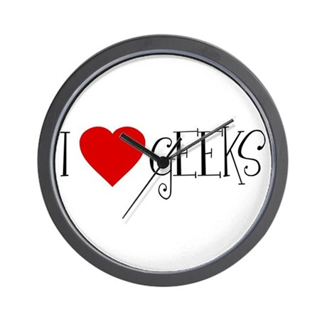 I Love [heart] Geeks Wall Clock