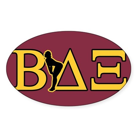Beta House Fraternity Oval Sticker