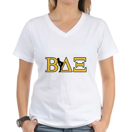 Beta House Fraternity Womens V-Neck T-Shirt