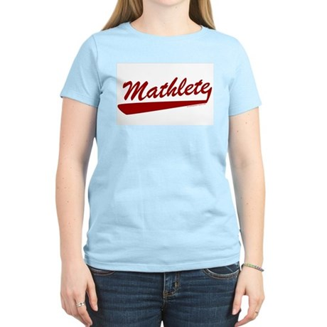 Mathlete Womens Pink T-Shirt