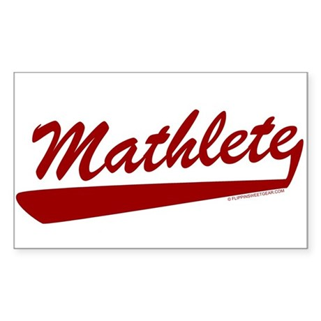 Mathlete Rectangle Sticker