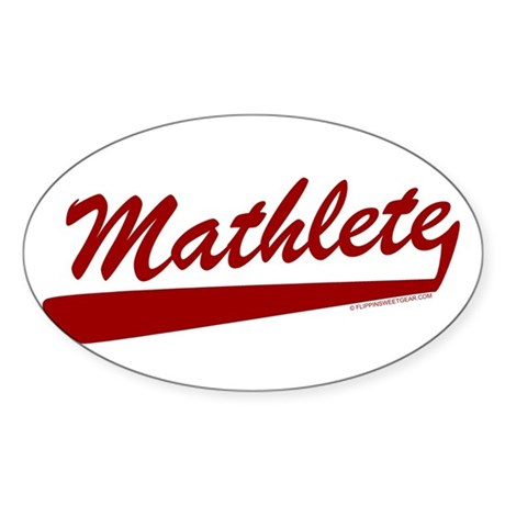 Mathlete Oval Sticker