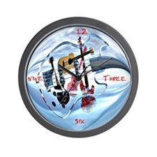 Glass Guitar Wall Clock
