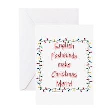 English Fox Merry Greeting Card