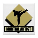 Martial Artist Tile Coaster