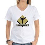 Martial Artist Women's V-Neck T-Shirt