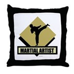Martial Artist Throw Pillow