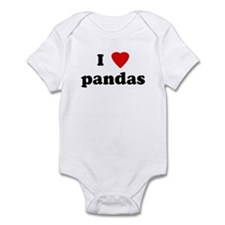 I Love pandas Infant Bodysuit