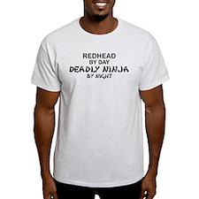 Redhead Deadly Ninja T-Shirt
