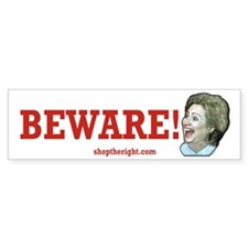 Beware of Hillary Bumper Bumper Sticker