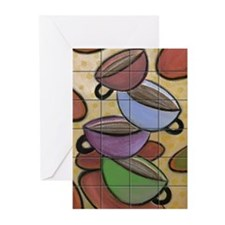 Coffee Cups  Greeting Cards (Pk of 10)