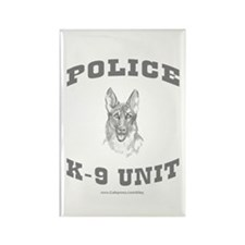 Police K9 Unit Rectangle Magnet (100 pack)