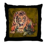 Unique Tiger boxes Throw Pillow