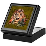 Cute Tiger boxes Keepsake Box