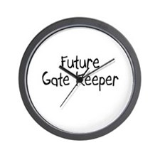 Future Gate Keeper Wall Clock