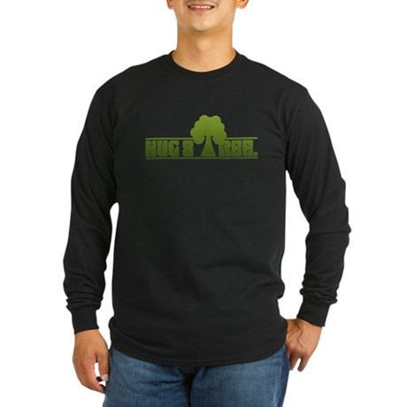 Hug a Tree Long Sleeve Dark T-Shirt