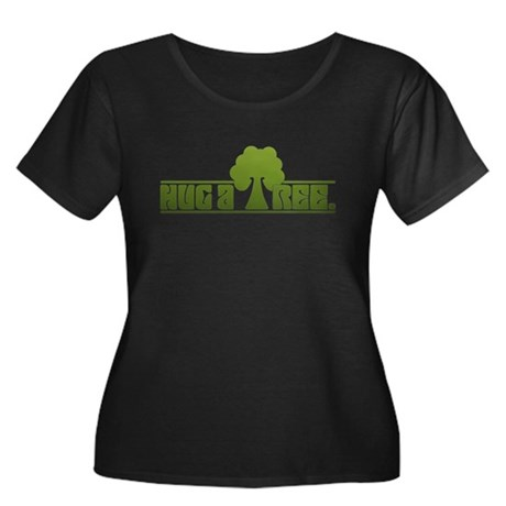 Hug a Tree Women's Plus Size Scoop Neck Dark T-Shi