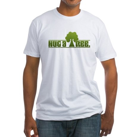Hug a Tree Fitted T-Shirt