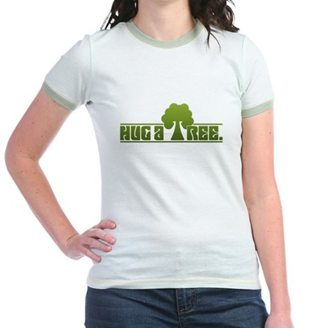 Hug a Tree Jr. Ringer T-Shirt