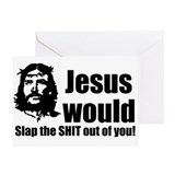 Jesus Slap! Greeting Card