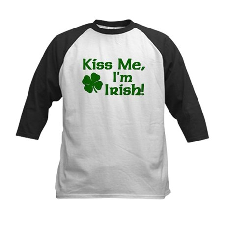 Kiss Me I'm Irish Kids Baseball Jersey