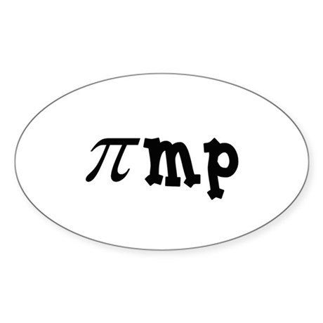Math Pimp Oval Sticker