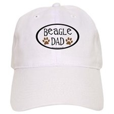 Beagle Dad Oval Baseball Cap