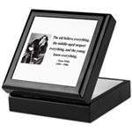 Oscar Wilde 3 Keepsake Box