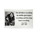Oscar Wilde 3 Rectangle Magnet (100 pack)