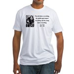 Oscar Wilde 3 Fitted T-Shirt