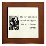 Oscar Wilde 4 Framed Tile