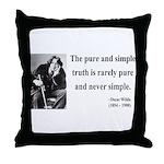 Oscar Wilde 4 Throw Pillow