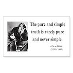 Oscar Wilde 4 Rectangle Sticker