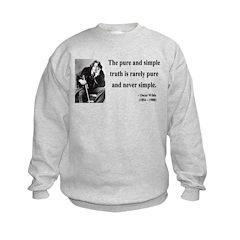 Oscar Wilde 4 Kids Sweatshirt