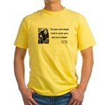 Oscar Wilde 4 Yellow T-Shirt