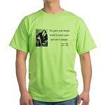 Oscar Wilde 4 Green T-Shirt