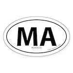 Morocco country bumper sticker -White (Oval)