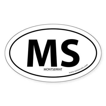 Montserrat country bumper sticker -White (Oval)