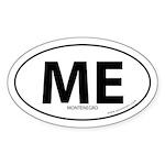 Montenegro country bumper sticker -White (Oval)