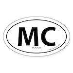 Monaco country bumper sticker -White (Oval)