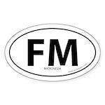 Micronesia country bumper sticker -White (Oval)
